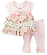 Iris & Ivy Pin Dot Knit to Woven Set (Baby Girls 0-9M)