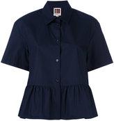 I'M Isola Marras ruffled shortsleeved shirt