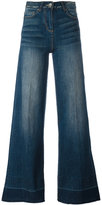 Twin-Set wide-legged jeans - women - Cotton/Spandex/Elastane - 28