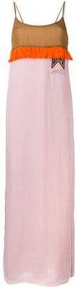Prada Ruffle Trim Maxi Dress