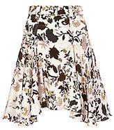 A.L.C. Brien Belted Print Skirt