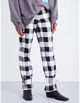 Jw Anderson Cuff-strap Wool Trousers