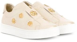 Roberto Cavalli Junior Monogram Sneakers