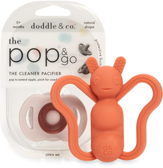 Doddle & Co The Pop & Go Pacifier & Poppable Silicone Teether Set