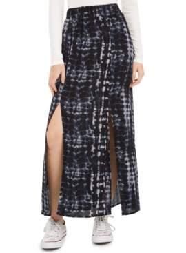 BeBop Juniors' Printed Double-Slit Maxi Skirt