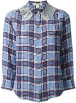 Marc Jacobs embellished collar checked shirt - women - Silk - 12