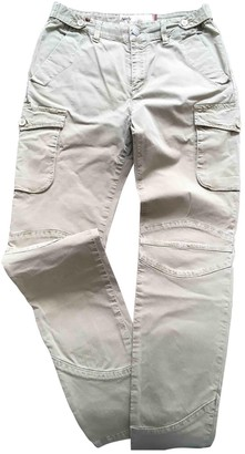 Notify Jeans Khaki Cotton Trousers for Women