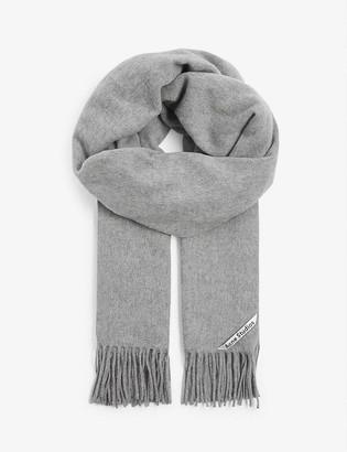 Acne Studios Canada tasselled wool scarf