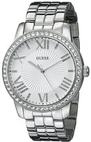 GUESS Women's U0329L1 Crystal-Accented Stainless Steel Watch