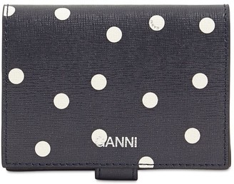 Ganni Printed Leather Compact Wallet