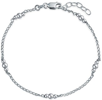 Bling Jewelry Round Ball Bead Chain Anklet Hot Wife Ankle Bracelet Sterling Silver
