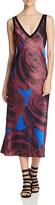 DKNY Rose Pinstripe Satin Slip Dress