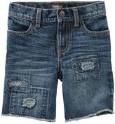 Osh Kosh Toddler Boy Rip-&-Repair Hickory Patch Jean Shorts