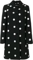 Moschino giant polka dot patterned coat - women - Polyester/Spandex/Elastane - 42