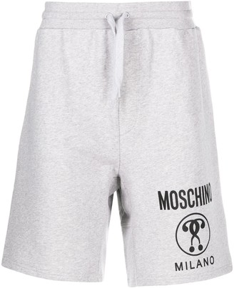 Moschino Double Question Mark track shorts