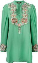 Roberto Cavalli embroidered blouse - women - Silk - 44