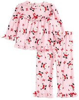 Little Me Santa Graphic Top & Pants Set (Baby Girls)