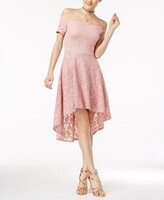Thumbnail for your product : City Studios Juniors' Off-The-Shoulder Fit & Flare Dress