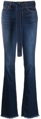Liu Jo Tie-Waist Flared Jeans