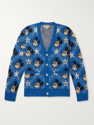 Gucci + Disney Intarsia Wool And Alpaca-Blend Cardigan