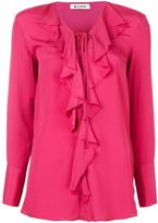 Dondup ruffled tie blouse