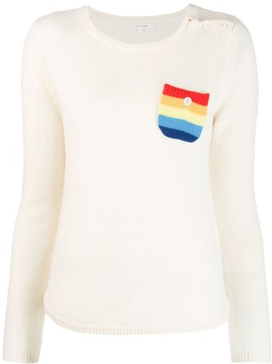 Chinti and Parker Rainbow Pocket Sweater