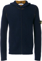 Stone Island zip up hooded cardigan