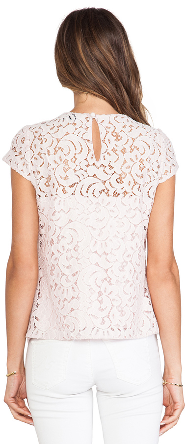Milly Lace Cap Sleeve Top