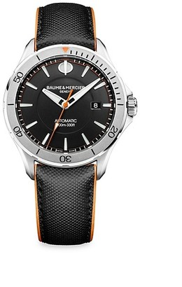 Baume & Mercier Clifton Club Stainless Steel & Leather Strap Watch