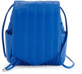 Cynthia Vincent Linear Quilted Crossbody Bag, Cobalt