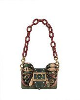 Burberry Bridle Baby Ruffled Snakeskin Shoulder Bag, Rose Pink