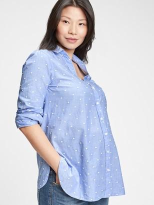 Gap Maternity Poplin Shirt