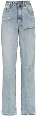 Ksubi x Kendall Jenner ripped straight-leg jeans