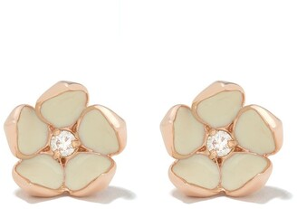 Shaun Leane Cherry Blossom diamond flower stud earrings