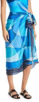 Gottex Kaleidoscope Silk Pareo Coverup, One Size