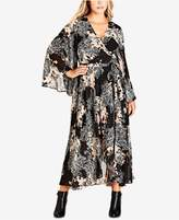 City Chic Trendy Plus Size Maxi Wrap Dress