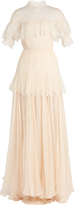 Maria Lucia Hohan Dani lace-panelled silk-mousseline gown
