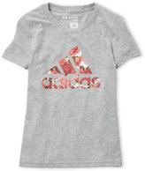 adidas Girls 7-16) Rose Logo V-Neck Tee
