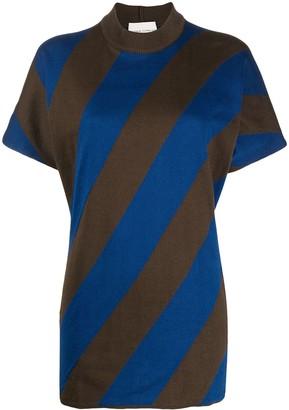 Stephan Schneider diagonal striped print T-shirt