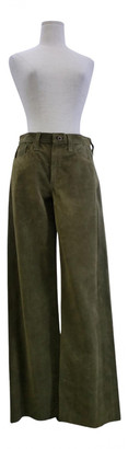 Simon Miller Green Suede Trousers
