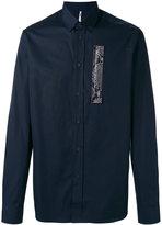Oamc snakeskin detail shirt - men - Cotton/Goat Skin - M