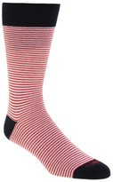 Lorenzo Uomo Men's Mini Stripe Crew Socks