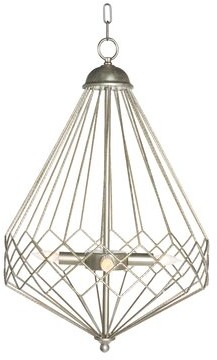 Aidan Gray Chan Geo 4 - Light Statement Geometric Chandelier Finish: Silver