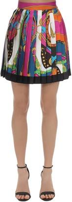 Versace Printed Silk Twill Mini Skirt