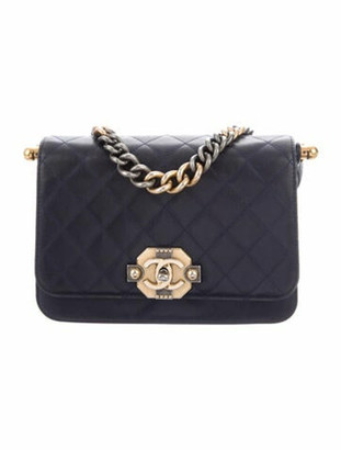 Chanel Paris-Cosmopolite Ritz Flap Bag Navy