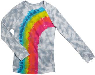 Flowers by Zoe Girl's Tie Dye Rainbow Long-Sleeve Tee, Size S-XL