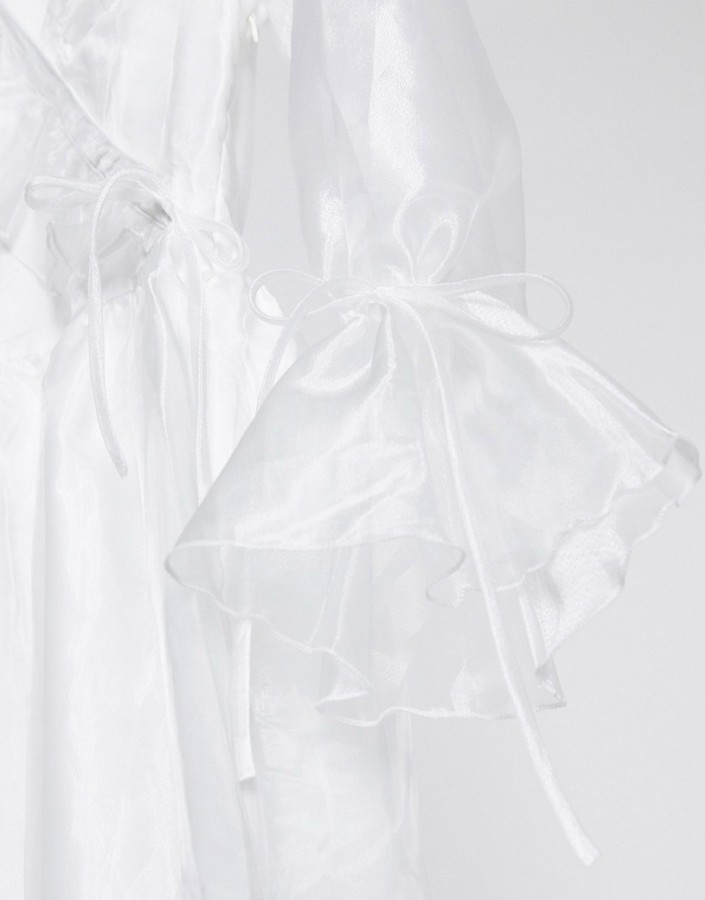 Thumbnail for your product : Forever U organza frill mini dress in white
