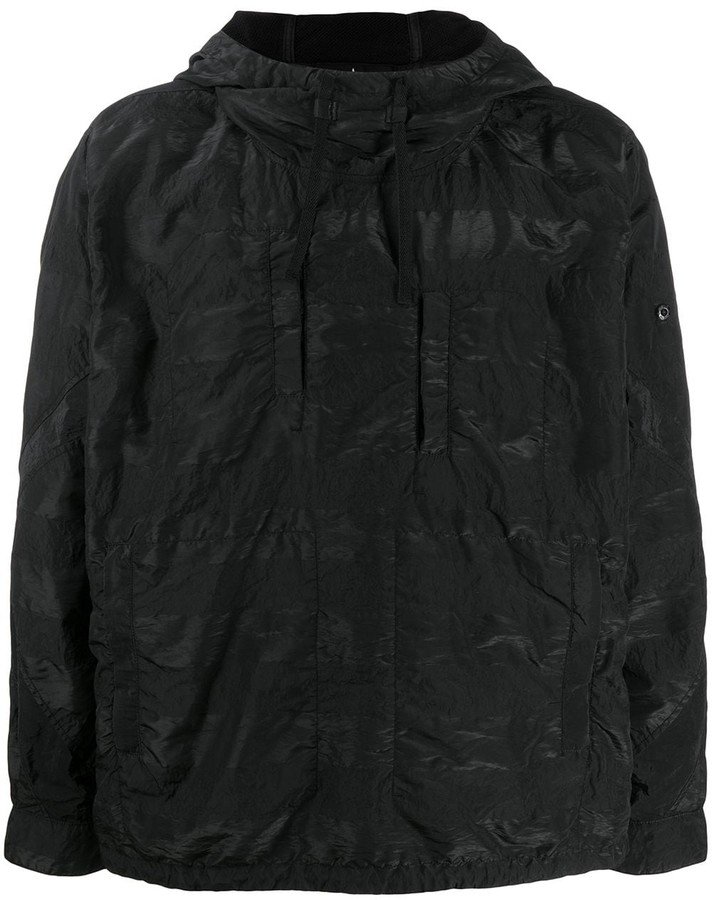 Stone Island Shadow Project Crinkled Shell Hoodie