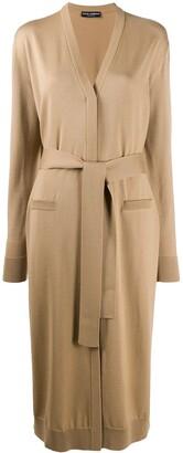 Dolce & Gabbana Tie Waist Cardi-Coat
