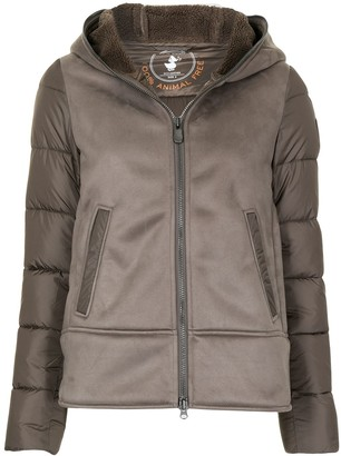 Save The Duck Mock Suede Front Padded Jacket